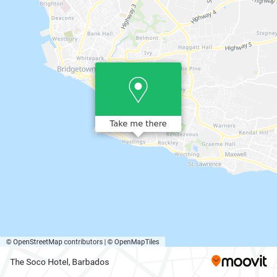 The Soco Hotel map