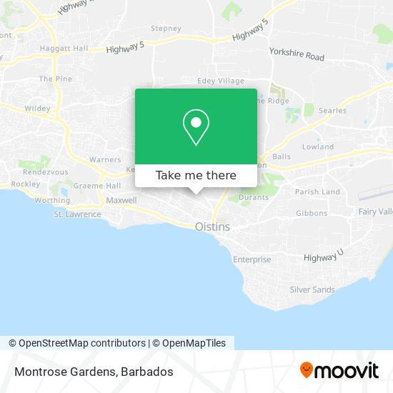Montrose Gardens map