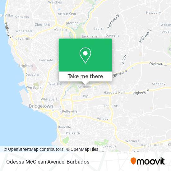 Odessa McClean Avenue map
