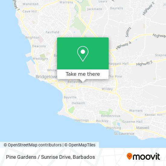 Pine Gardens / Sunrise Drive map