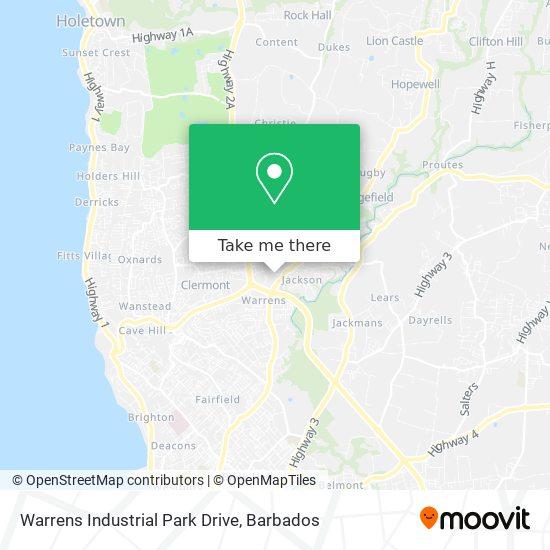 Warrens Industrial Park Drive map