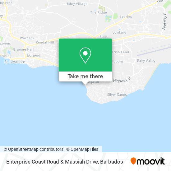 Enterprise Coast Road & Massiah Drive map