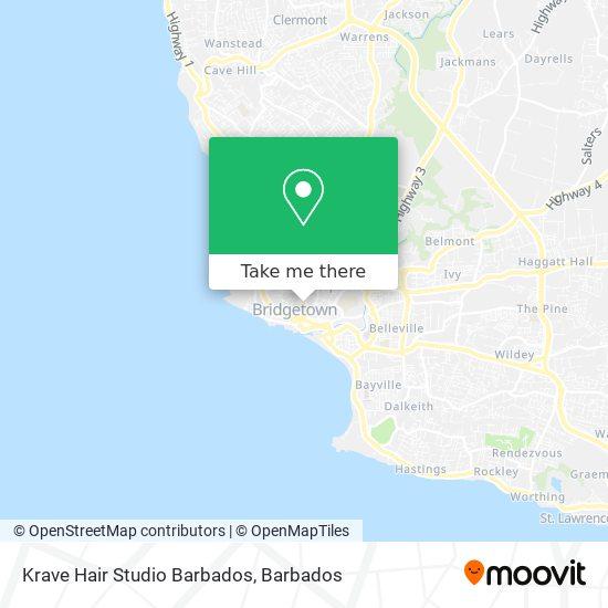Krave Hair Studio Barbados map