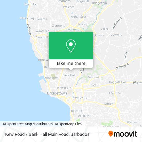 Kew Road / Bank Hall Main Road map