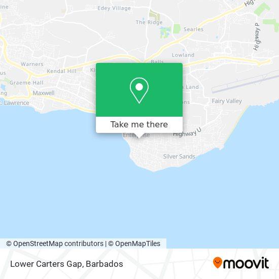 Lower Carters Gap map