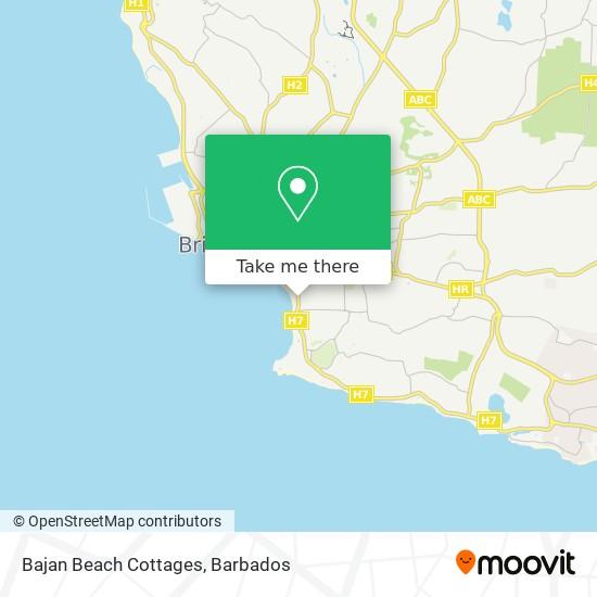 Bajan Beach Cottages map
