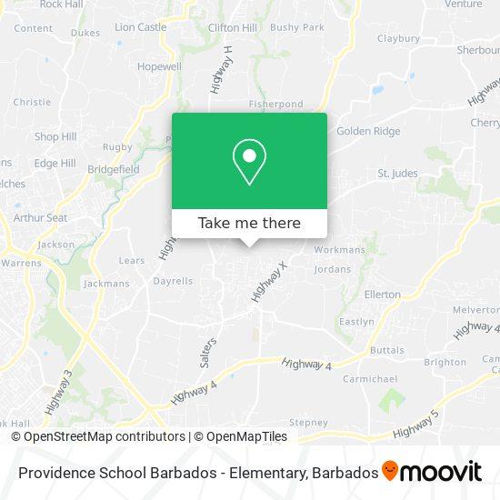 Providence School Barbados - Elementary map