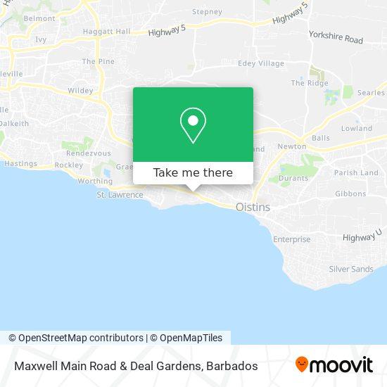 Maxwell Main Road & Deal Gardens map