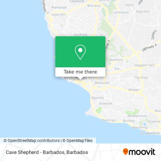 Cave Shepherd - Barbados map