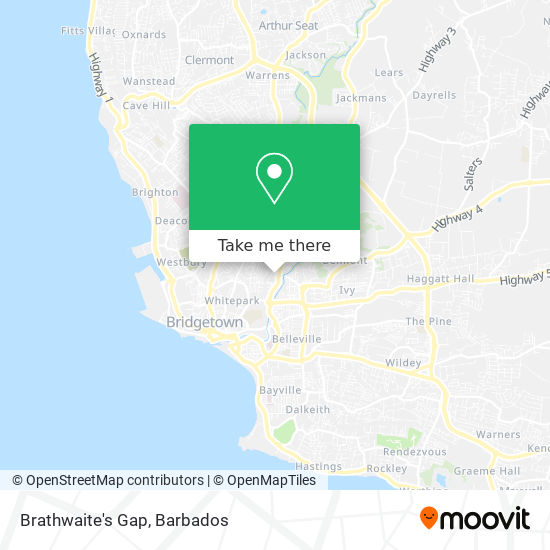 Brathwaite's Gap map