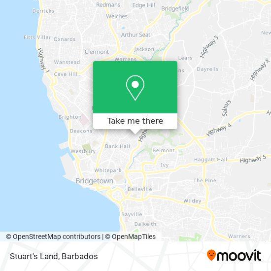 Stuart's Land map