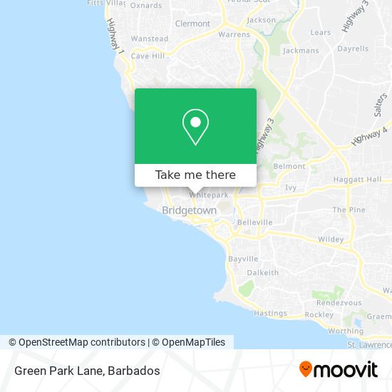 Green Park Lane map