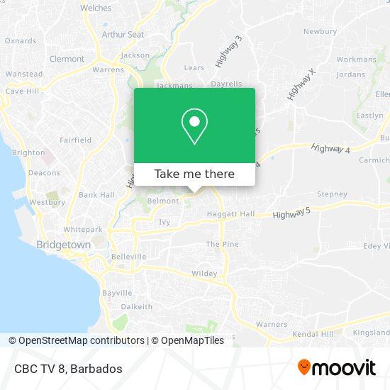 CBC TV 8 map