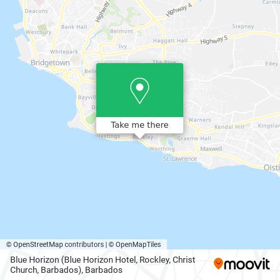 Blue Horizon (Blue Horizon Hotel, Rockley, Christ Church, Barbados) map