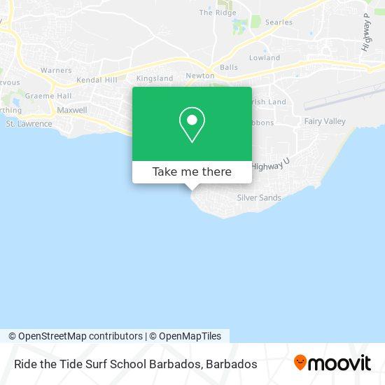 Ride the Tide Surf School Barbados map