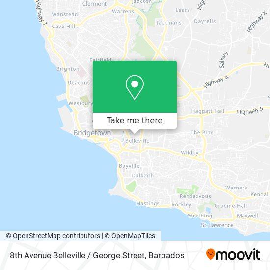 8th Avenue Belleville / George Street map