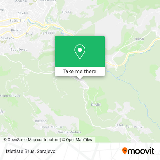 Izletište Brus map