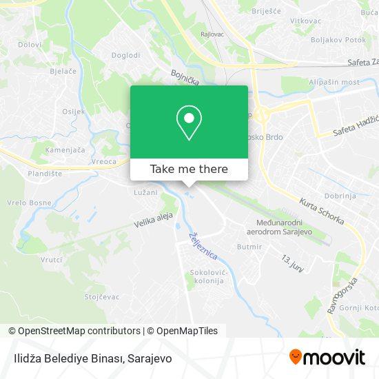 Ilidža Belediye Binası map