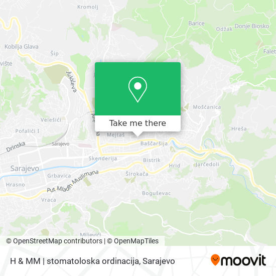 H & MM | stomatoloska ordinacija map