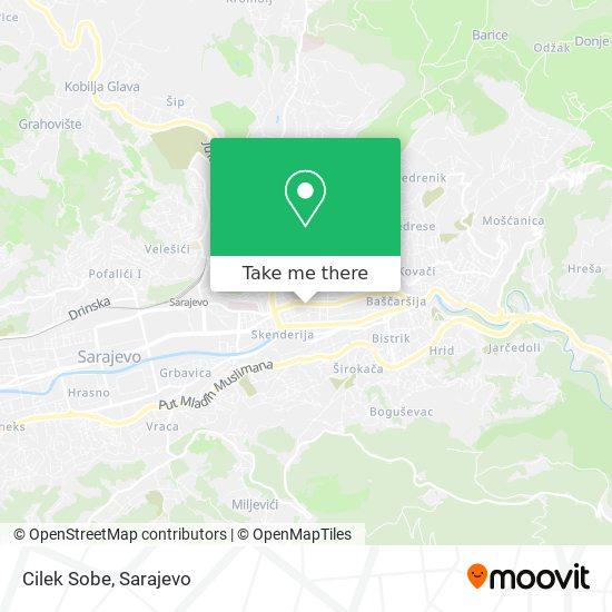 Cilek Sobe map