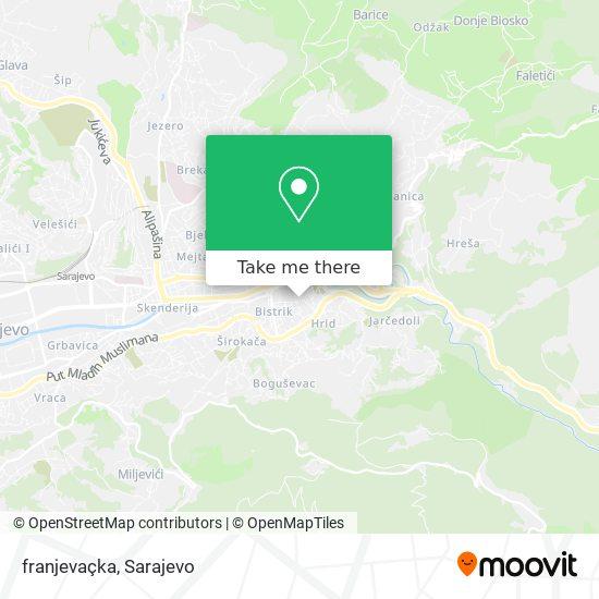 franjevaçka map