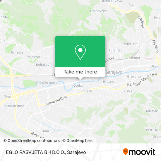 EGLO RASVJETA BH D.O.O. map