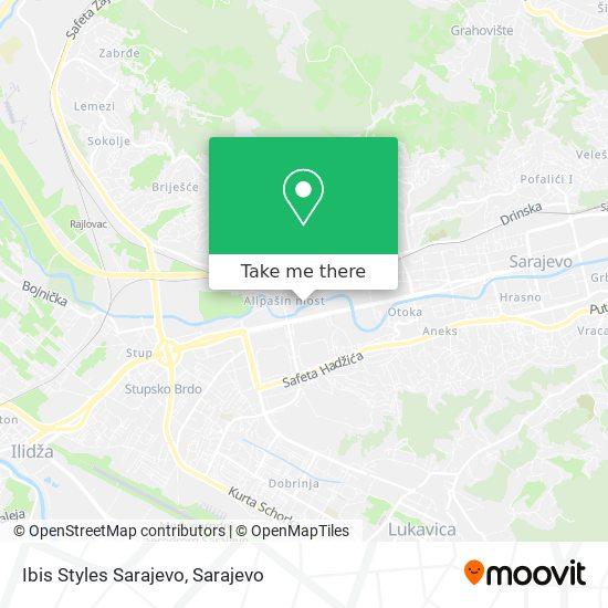 Ibis Styles Sarajevo map