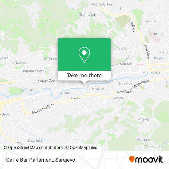 Caffe Bar Parlament map
