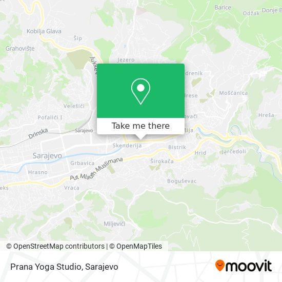 Prana Yoga Studio map