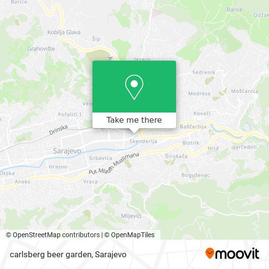 carlsberg beer garden map
