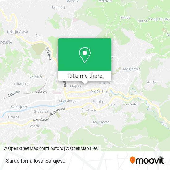 Sarač Ismailova map