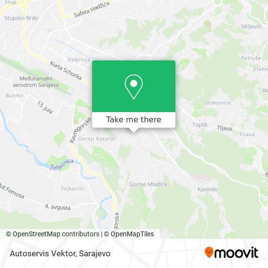 Autoservis Vektor map