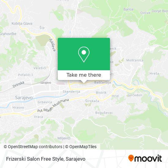 Frizerski Salon Free Style map