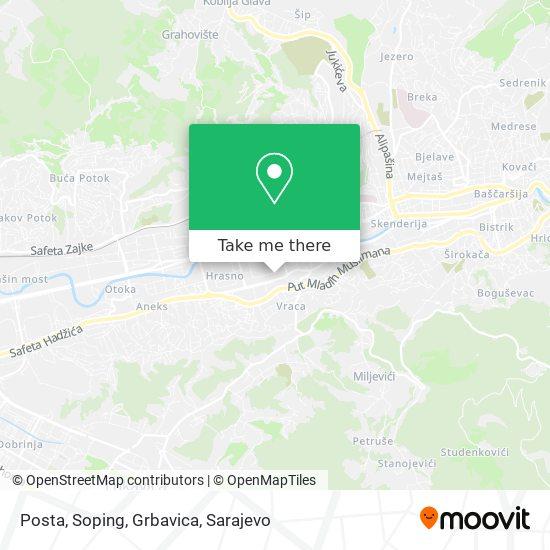 Posta, Soping, Grbavica map
