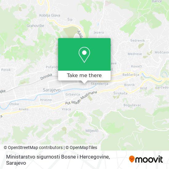 Ministarstvo sigurnosti Bosne i Hercegovine map