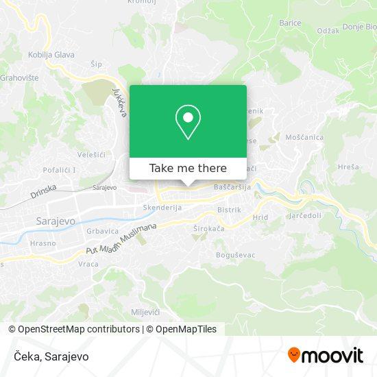 Čeka map