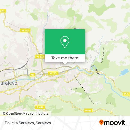 Policija Sarajevo map