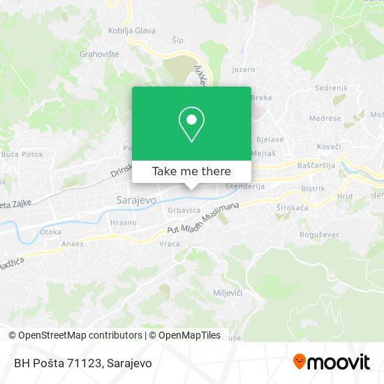 BH Pošta 71123 map
