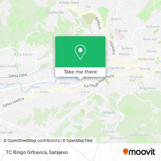 TC Bingo Grbavica map