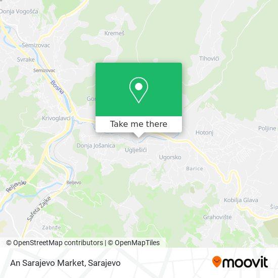 An Sarajevo Market map