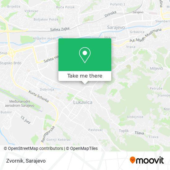 Zvornik map