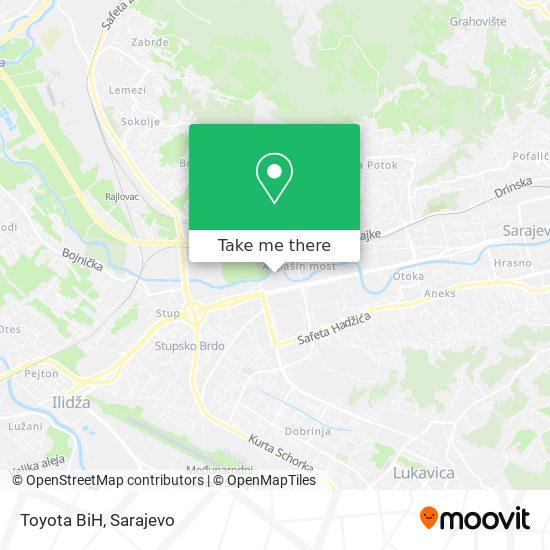 Toyota BiH map