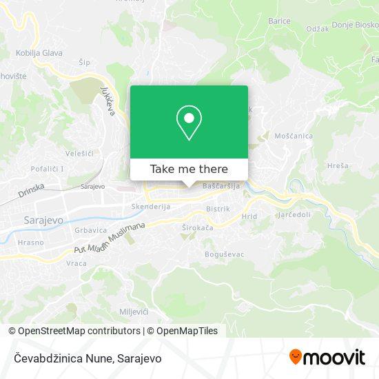 Čevabdžinica Nune map