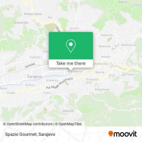 Spazio Gourmet map