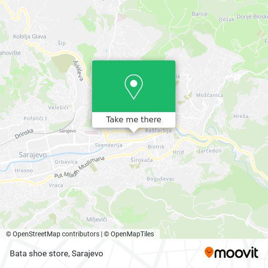 Bata shoe store map