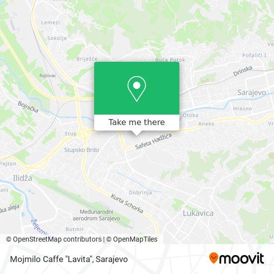 """Mojmilo Caffe """"Lavita"""" map"""
