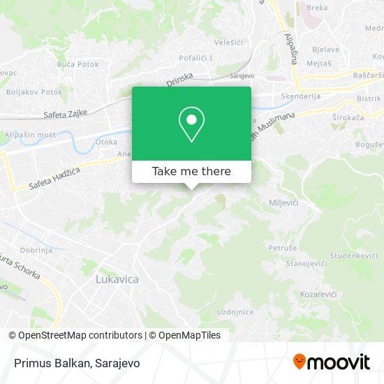 Primus Balkan map
