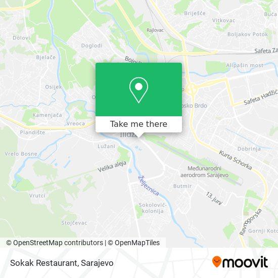 Sokak Restaurant map