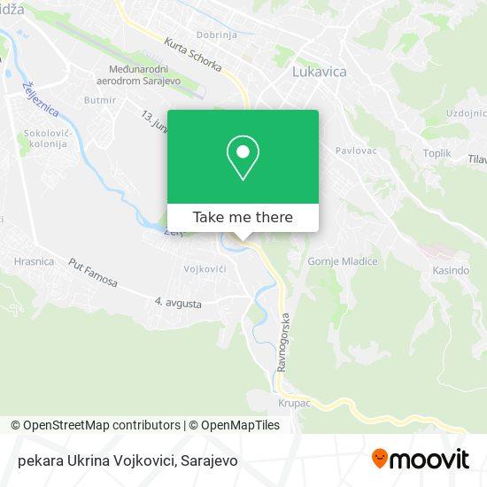 pekara Ukrina Vojkovici map