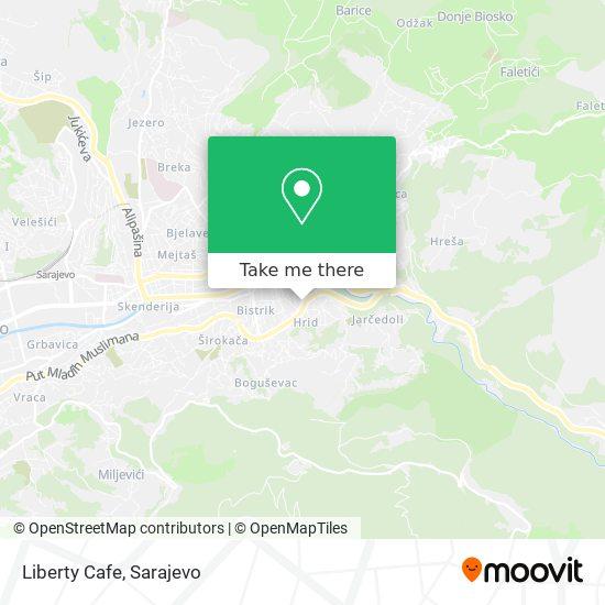 Liberty Cafe map